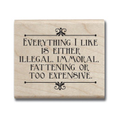Laugh Out Loud Mounted Rubber Stamp 5.1cm x 6.4cm -Everything I Like