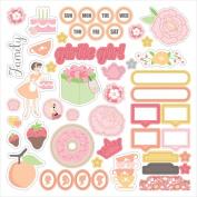 Twirly Girl Stickers 30cm x 30cm -Illustration