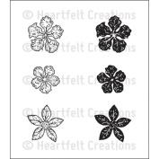 Heartfelt Creations Cling Rubber Stamp Set 13cm x 17cm -Mini Vintage Floret
