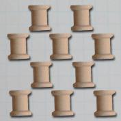 Wooden Shapes 10/Pkg-Vintage Beading Spool .190cm X.15cm