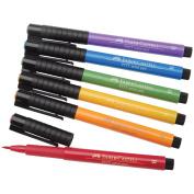 Pitt Artist Manga Brush Pens 6/Pkg-Assorted Colours