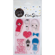 AHA Arts Clear Stamps 10cm x 15cm Sheet-Girls!