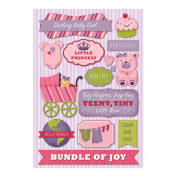 Cardstock Stickers-Darling Baby Girl