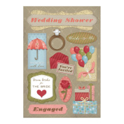 Cardstock Stickers-It's A Wedding Shower