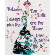 Two Evils Counted Cross Stitch Kit-20cm x 25cm 14 Count