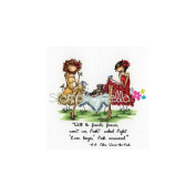 Stamping Bella Cling Rubber Stamp 7.6cm x 8.3cm -Uptown Girls Paige & Peggy Pour Some Tea