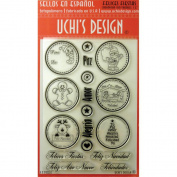 Uchi's Design Spanish Clear Stamp Set 10cm x 15cm Sheet-Felices Fiestas