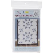 Stamped White Quilt Blocks 46cm x 46cm 6/Pkg-Interlocking XX Western Star