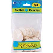 Woodsies Shapes 130/Pkg-Circles
