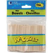 Woodsies Mini Dowels 6.7cm - 0.2cm 250/Pkg
