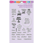 Stampendous Perfectly Clear Stamps 10cm x 15cm Sheet-Royal Heart Quotes