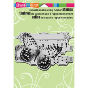 Stampendous Cling Rubber Stamp 14cm x 11cm Sheet-Butterfly Tune