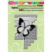 Stampendous Cling Rubber Stamp 14cm x 11cm Sheet-Butterfly Pattern