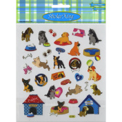 Multicoloured Stickers-Playful Pooches
