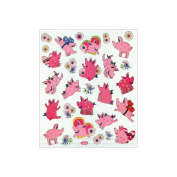 Multicoloured Stickers-Pigs At Play