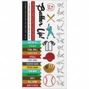 Game On! Cardstock Stickers 15cm x 30cm -Baseball