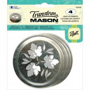 Transform Mason Ball Lid Inserts 4/Pkg-Leaf