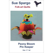 Sue Spargo Patterns-Peony Bloom Pin Keeper 30cm High