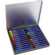 Lyra Aquacolor Watersoluble Crayons 24/Pkg-