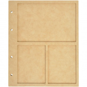 Beyond The Page MDF 3 Window Display Album W/10 Pockets-17cm x 22cm X.13cm