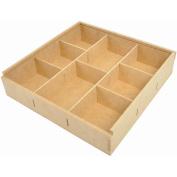 Beyond The Page MDF Divided Storage Box-28cm x 28cm X2.13cm