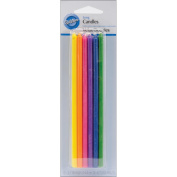 Long Birthday Candles 15cm 12/Pkg-Assorted Colours