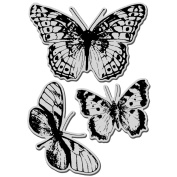 Stampendous Jumbo Cling Rubber Stamp 18cm x 13cm Sheet-Butterfly Trio
