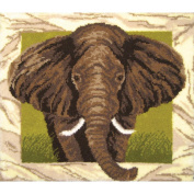 Latch Hook Kit 110cm x 100cm -Elephant Portrait