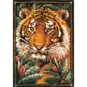 M C G Textiles Latch Hook Kit, 70cm x 100cm , Jungle Tiger