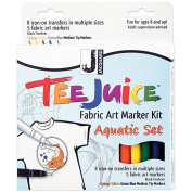 Tee Juice Fabric Art Marker Kit-Aquatic