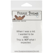 Riley & Company Funny Bones Cling Mounted Stamp 5.1cm x 3.8cm -When I Was A Kid