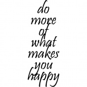 Riley & Company Funny Bones Cling Mounted Stamp 2.5cm x 7.6cm -Do More Of What Makes You Happy