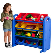 4-Tier Toy Organiser with Bins