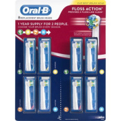 Oral-B Floss Action Replacement Brush Heads 8-pack