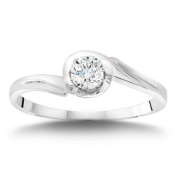 0.22 ct Round VS2 Clarity, I Colour 14kt White Gold Diamond Solitaire Ring