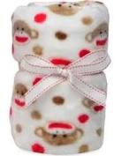 Baby Starters Sock MonkeyPlush Blanket