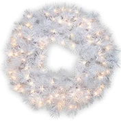 National Tree 80cm  WispyWillow Grande White Wreath
