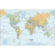 Wall Pops WPE99074 World Dry-Erase Map Decal