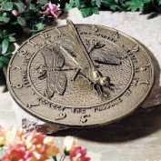 Whitehall Products 00691 Dragonfly Sundial in French Bronze
