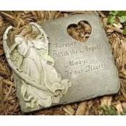 25cm  Joseph's Studio Memorial Angel Outdoor Garden Stepping Stone