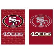 San Francisco 49ers Two Sided Glitter Embellished Garden Flag ...