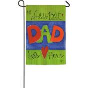 Fathers Day Garden Flag - Worlds Best Dad