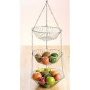 Creative Home Chrome works 3 Tiered Hanging Baskets 73100