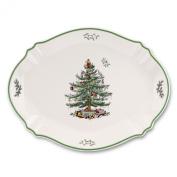 Spode Christmas Tree-Green Trim 43cm  Oval Serving Platter 1556171