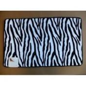 New Ultra Absorbent Zebra Skin Memory Foam Bathroom Bath Mat/Rug Slip