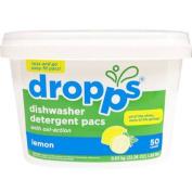 Dropps Dishwasher Detergent Pacs, 50ct, Lemon, 660ml