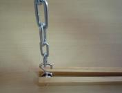 Cooks Standard Wood Single Bar Pot Rack Set NC-00269