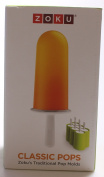 Zoku Slow Pops - easy to remove Silicone Ice Lolly moulds with drip guards