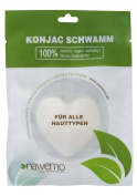Pure konjac sponge for all skin types, heart-shaped