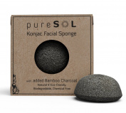 Konjac Sponge - Activated Charcoal - Facial Sponge, 100% Natural Sponge & Eco-Friendly-Gentle Exfoliating Sponge, Deep Cleansing, Improved Skin Texture - Konjac Facial Sponge - Natural Beauty Products, No Chemicals, Parabens, Sulphates, Fragrances & Co ..